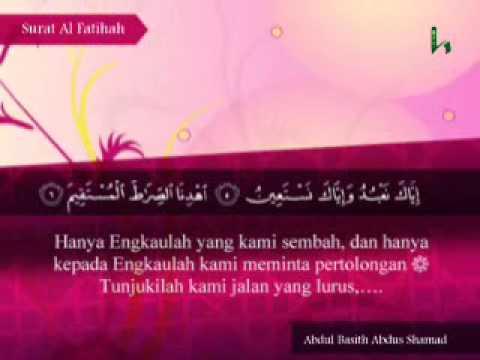fateha  Ayat-ayat Dipilih  Surah Quran Terjemahan Indonesia