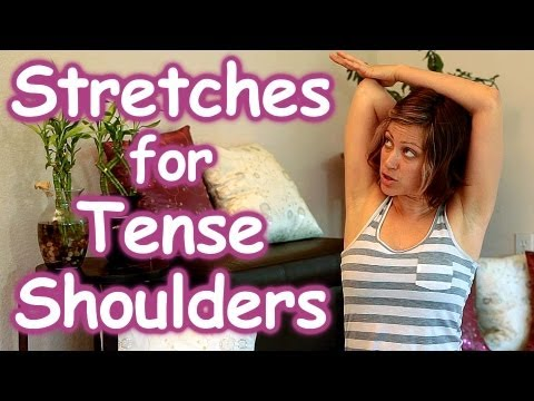 stretches for tense shoulders  back pain relief