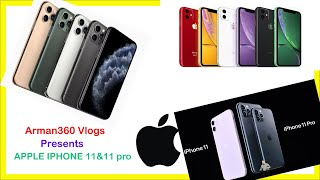iPhone11 & iPhone11pro | Released 2019 Sep10 | 3Triple Camera | A13 Bionic Chip | BD
