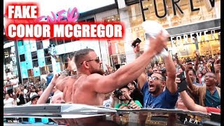 Fake Conor McGregor Pranks New York City!