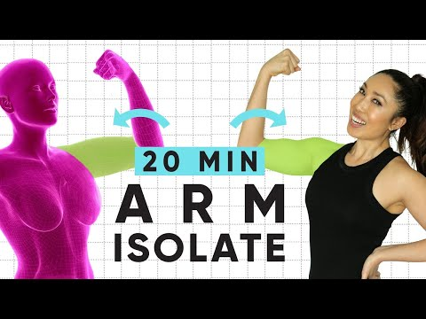 20 Minute Weightless Arm Isolate Workout | At-home, no equipment arm toning exercises!