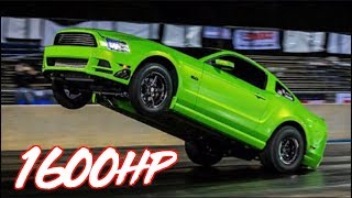 """1675HP Coyote Mustang """"The Snot Rocket"""" - Drag and Roll Race Champion!"""