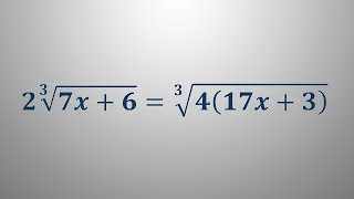 Iracionalna enačba 2