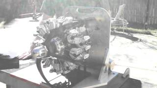 Early Run of My 4 Stroke 18 Cylinder Radial Engine- Terry Mayhugh