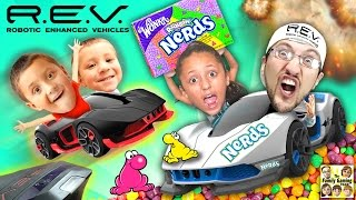 R.E.V. Cars Battle w/ NERDS CANDY All Over The Floor! (FGTEEV Mysterious Family Foggy Fun Mess!)