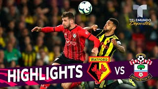 Watford vs. Southampton: 1-1 Goals & Highlights | Premier League | Telemundo Deportes