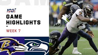 Ravens vs. Seahawks Week 7 Highlights | NFL 2019