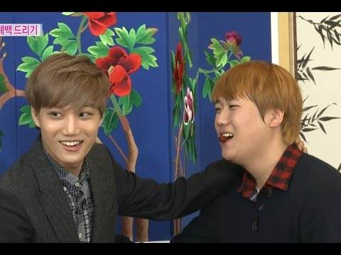 【TVPP】SUHO, KAI(EXO) - Showing how to do Jujube Kiss, 수호,카이(엑소) - 폐백 중 대추키스 시범 @ We Got Married