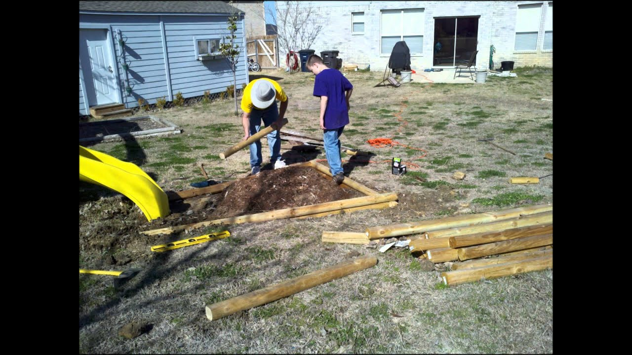Landscape Timbers Driveway Edging : How to install landscaping timbers
