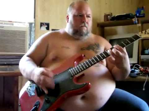 FAT GUY PLAYS - fade to black - ON GUITAR - Metallica ...