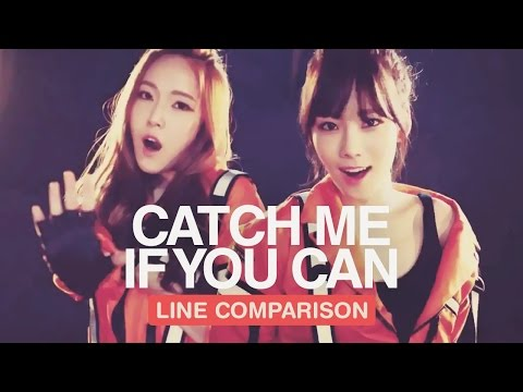 GIRLS' GENERATION - Catch Me If You Can (Line Comparison) 「with Jessica」