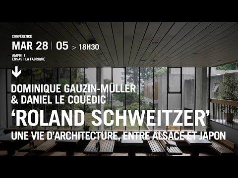 Conférence Roland Schweitzer, une vie d'architecture, entre Alsace et Japon à l'Ensa Strasbourg.