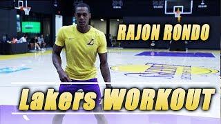 Lakers Rajon Rondo Workout at Lakers Facility