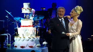 Lady Gaga Surprises Tony Bennett With Birthday Celebration at Cheek to Cheek Concert