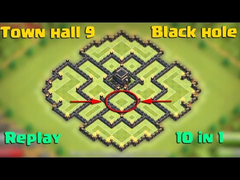 Clash Of Clans Town Hall 9 Th9 Black Hole Farming