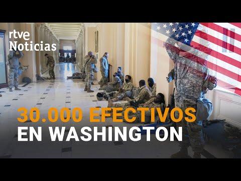 SOLDADOS ACAMPADOS en los pasillos y corredores del CONGRESO de EE.UU. | RTVE