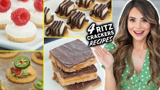 4 EASY Recipes Using RITZ CRACKERS!