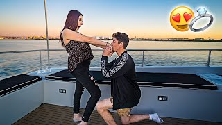 SHE SAID YES!! **surprise proposal**