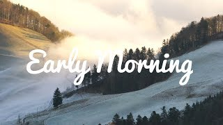 Early Morning - 1 hour - Calm Foggy Hillside for Sleeping, Meditation & background ambient noise
