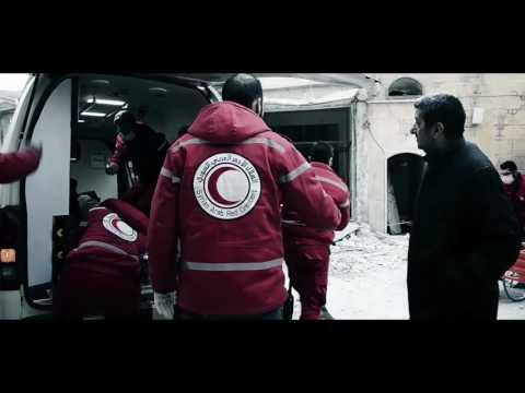 Här evakueras skadade i Aleppo
