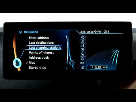 BMW i Navigation System: Charging Station List