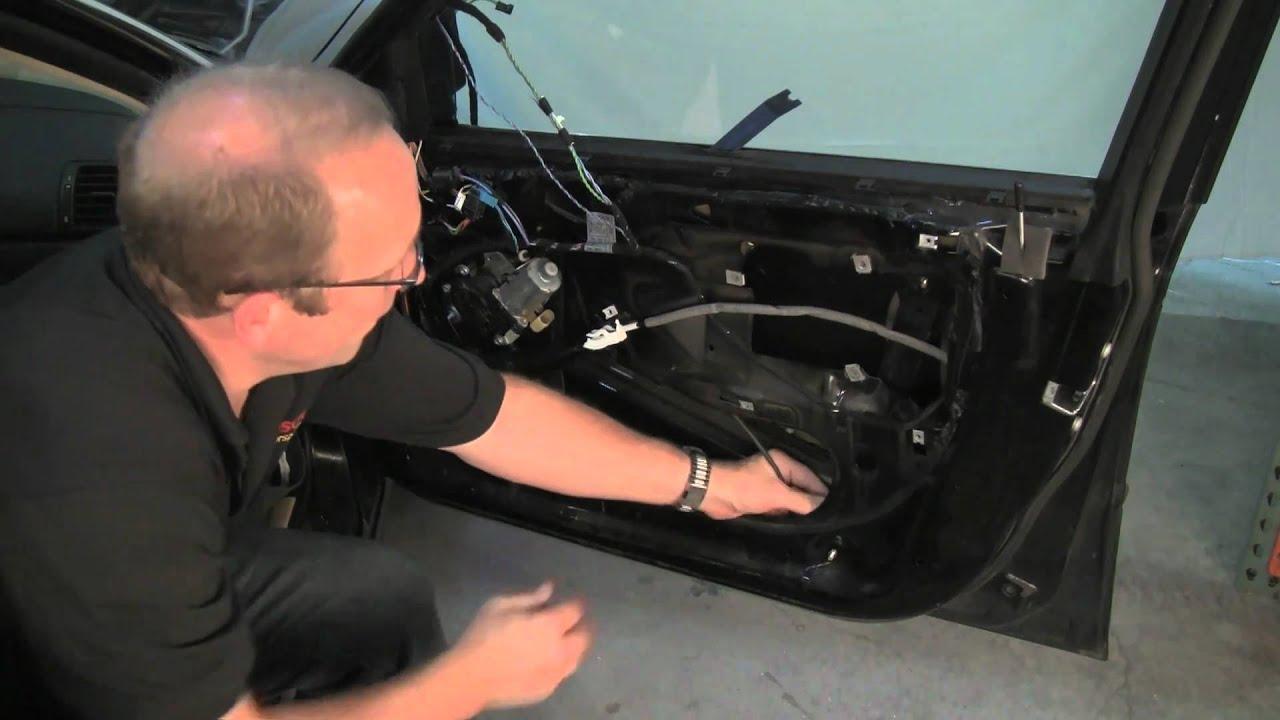 Removing Bmw Door Panel Amp Replacing Window Regulator Youtube