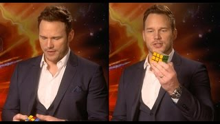 Chris Pratt Completes A Rubik's Cube In 3 Minutes...While Doing An Interview | PopBuzz Meets