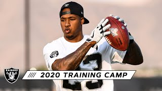 Secondary In Action During 2020 Training Camp | Las Vegas Raiders
