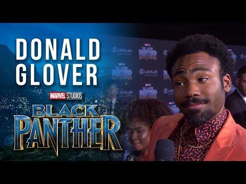Donald Glover on the Marvel Studios' Black Panther World Premiere Red Carpet