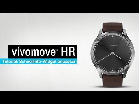 vívomove™ HR Tutorial - Anpassen des Schnellinfo-Widgets