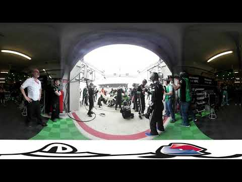 360 Video - Team SRC Kawasaki France Pitstop on the way to victory at the 24 Heures Motos