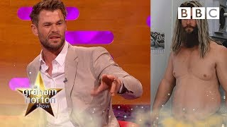 The truth about Chris Hemsworth's Thor fat suit 😂| The Graham Norton Show - BBC