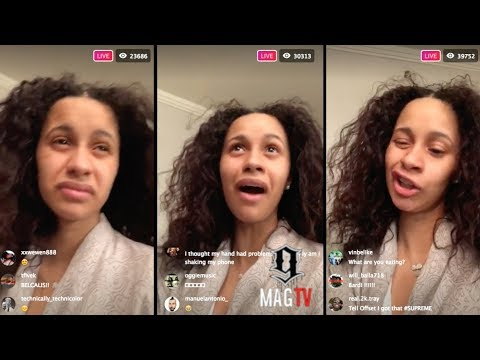 Cardi B: 'Do U Really Want To Go Thru A Man's Phone?' On IG Live!