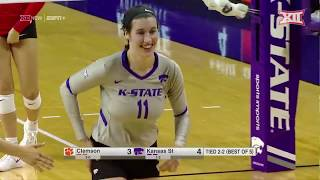 Kansas State vs. Clemson Volleyball Highlights