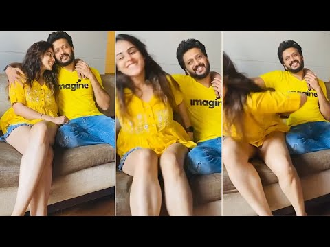 Genelia making fun with her husband Riteish Deshmukh