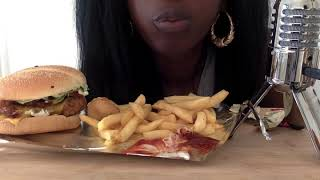 ASMR: Burger King Whopper, Fries and Chilli cheese bites *Eating Sounds*