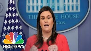 Watch Live: White House Press Briefing 12/18/18 | NBC News