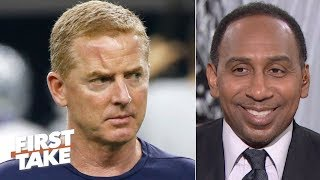 Stephen A. predicts Jason Garrett gets fired by next season: He's a cheerleader! | First Take
