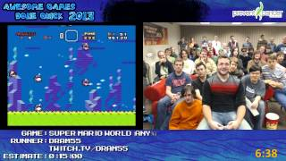 Super Mario World - Speed Run in 0:10:37 by dram55 live for Awesome Games Done Quick 2013