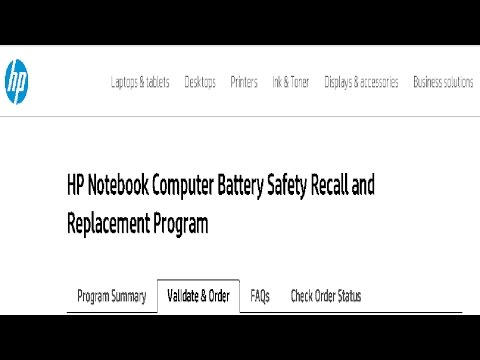 HP Notebook - Battery Safety Recall Replacement Instructions