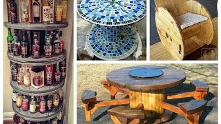 Recycled Cable Spool Ideas - DIY Furniture Ideas from Wooden Wire Cable Spools