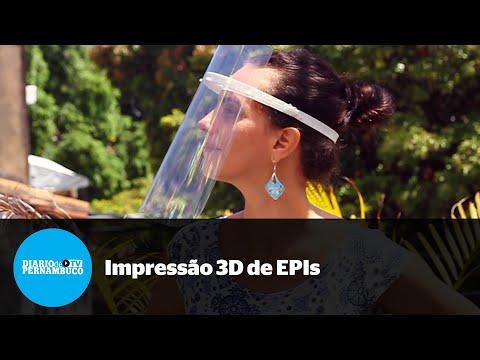 Pernambucanos se unem para imprimir EPIs 3D contra coronavírus