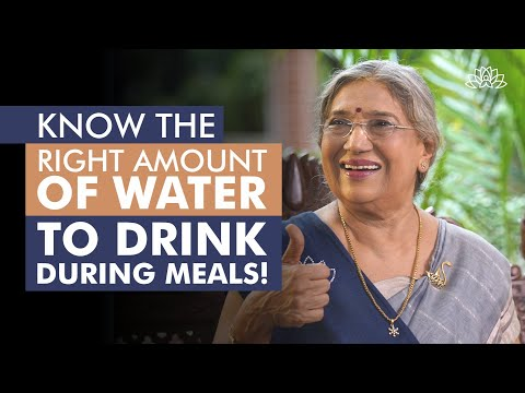 How much water should one drink during meals? | Dr. Hansaji Yogendra