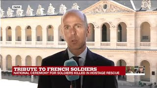 """Tribute to French soldiers: """"a very sombre and touching ceremony"""""""