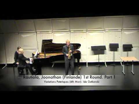Rautiola, Joonathan (Finlande) 1st Round. Part 1