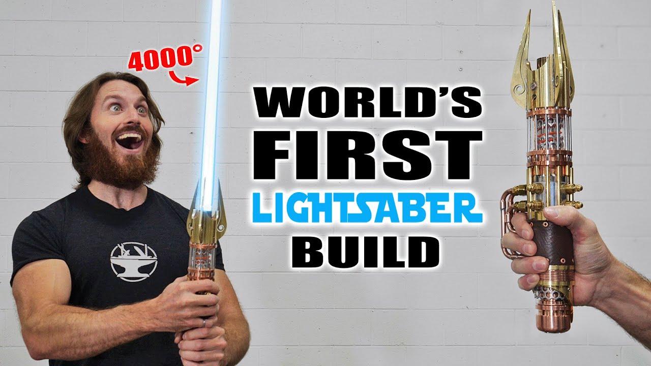 4000° PLASMA LIGHTSABER BUILD (RETRACTABLE BLADE!)
