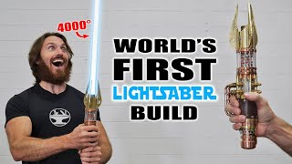 4000° PLASMA LIGHTSABER BUILD (RETRACTABLE BLADE!)