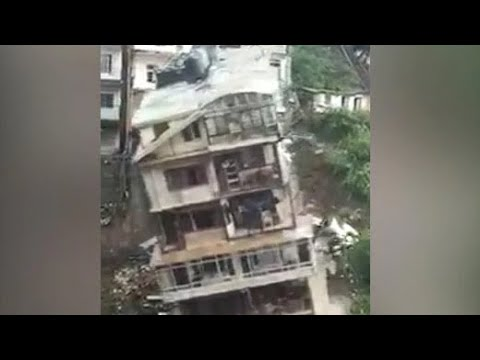 Watch: Multi-Storey Building Collapses Due To Landslide In Shimla