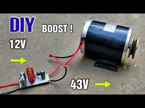 12V 1000W | DC Voltage Step Up Converter ( 12v to 43v ) for DC Motor DIY
