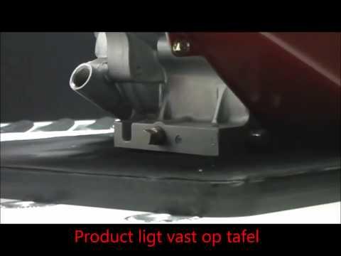 BCK Holland rollenbaan en werktafel met pneumatische kogelpotten